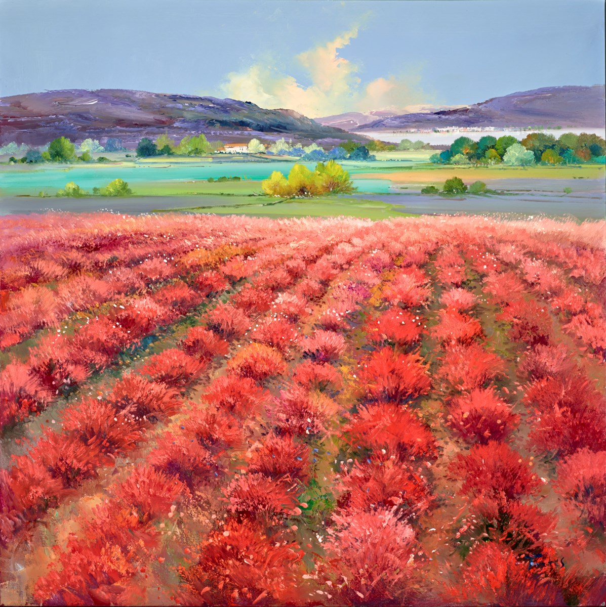 Summer Bright I by torres -  sized 39x39 inches. Available from Whitewall Galleries